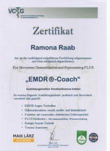 EMDR Zertifikat Ramona Raab