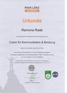 Kommunikation Zertifikat Ramona Raab