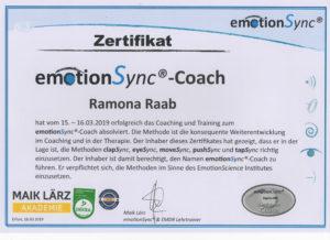 EmotionSync Zertifikat Ramona Raab